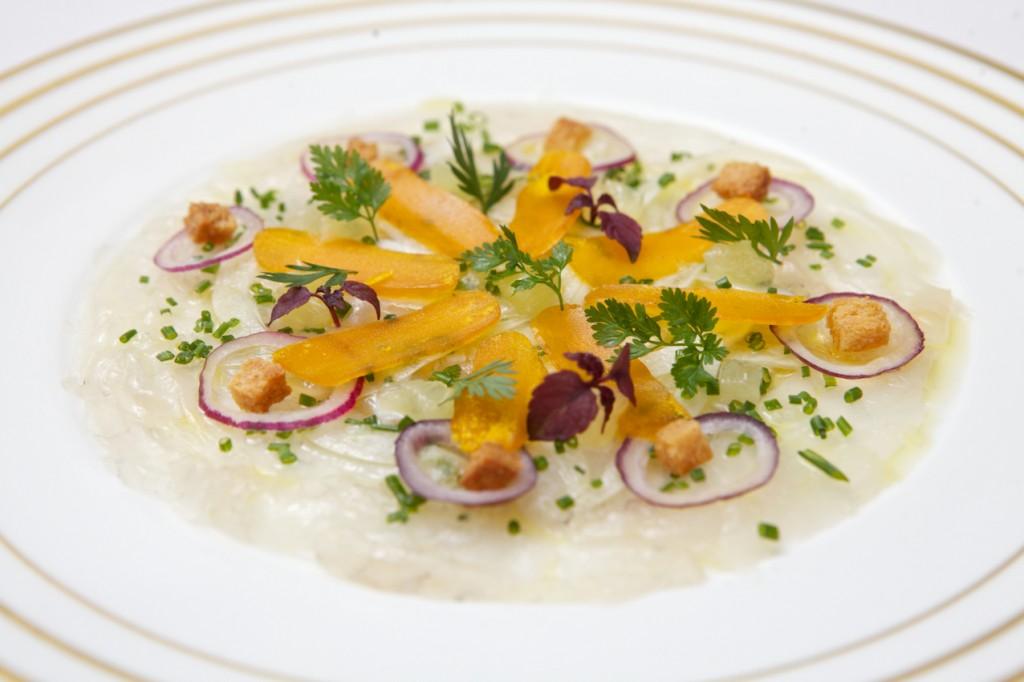 Marinade de Daurade, fenouil croquant et poutargues